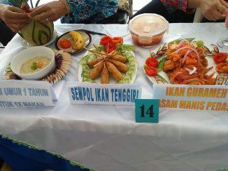 Menu sajian dr Tim Penggerak PKK Desa Sambeng diajang lomba masak ikan tingkat kecamatan Bantarbolang. doc :Ristyaningsih